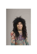80s Rockstar Black Wig