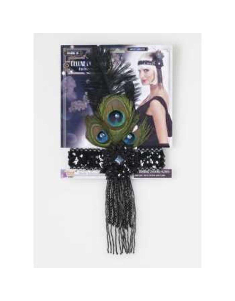 Peacock Feather Flapper Headband
