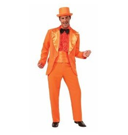 Men's Costume Orange Prom Tuxedo Standard
