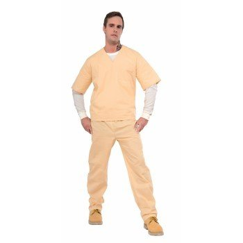 Adult Costume Beige Convict Suit