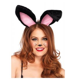 Black Plush Bunny Ears