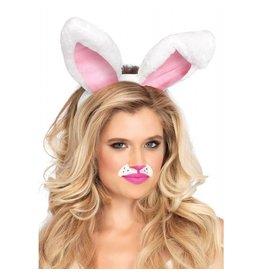 White Plush Bunny Ears