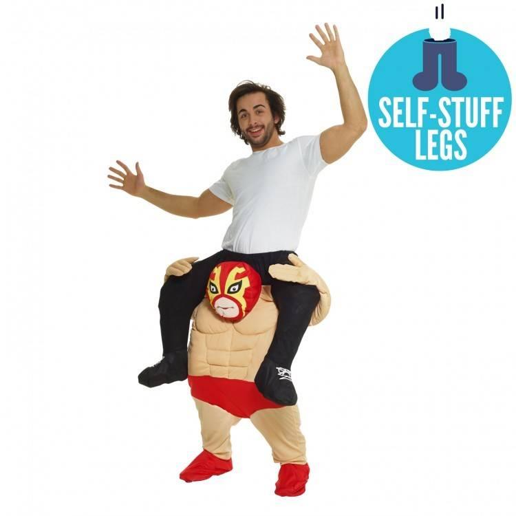 Adult Costume Morphsuit Piggy Back Wrestler