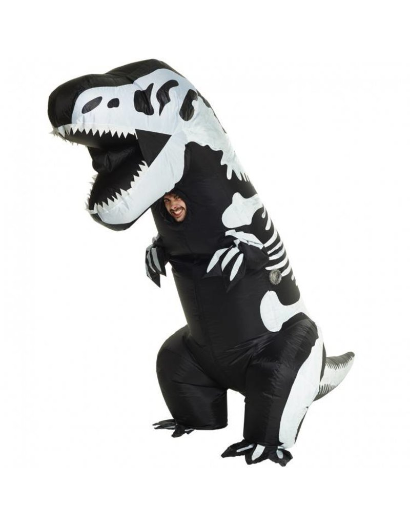 Giant Inflatable Skeleton T-Rex Costume - Standard Size
