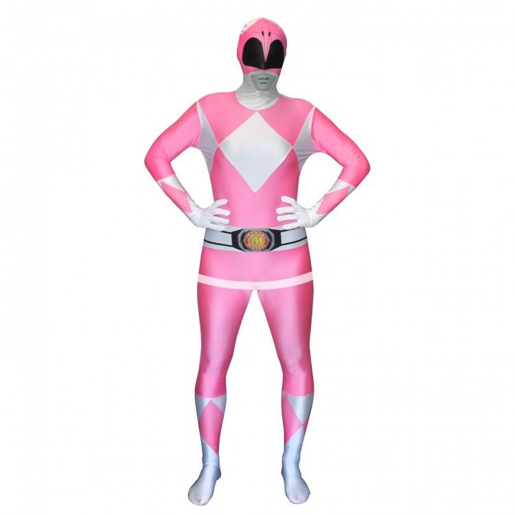 Adult Costume Morphsuit Pink Power Ranger Large