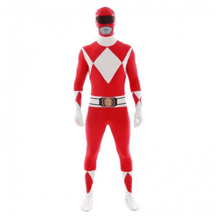 Adult Costume Morphsuit Red Power Ranger Large