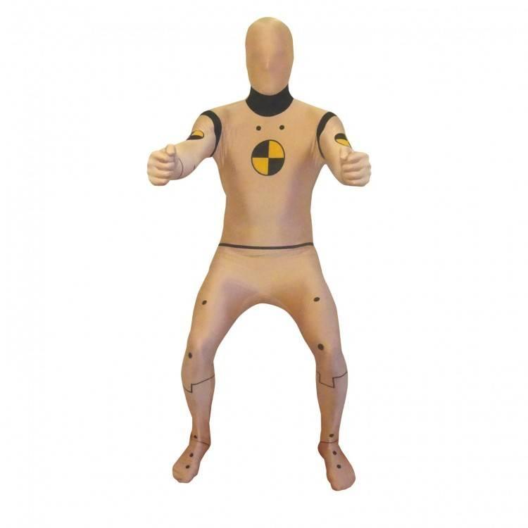Adult Costume Morphsuit Crash Test Dummy Large