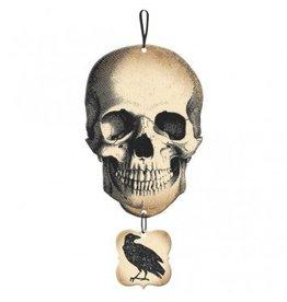 Boneyard Skull & Crow Medium Sign
