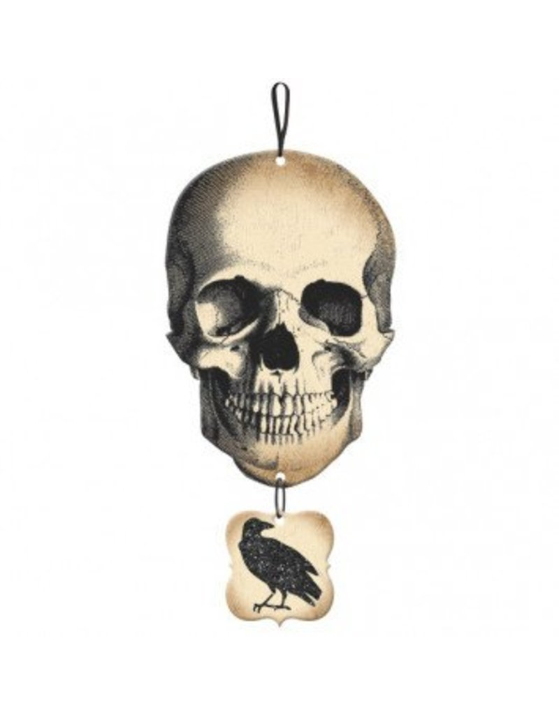 Boneyard Skull & Crow Medium Sign