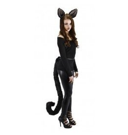 Deluxe Oversized Cat Tail Black