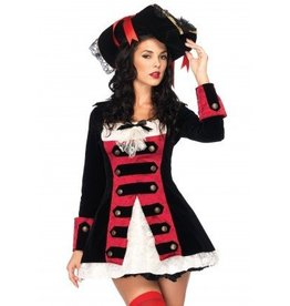 Women's Costume Charming Pirate Captain