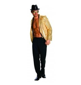 Men's Costume Gold Sequin Jacket
