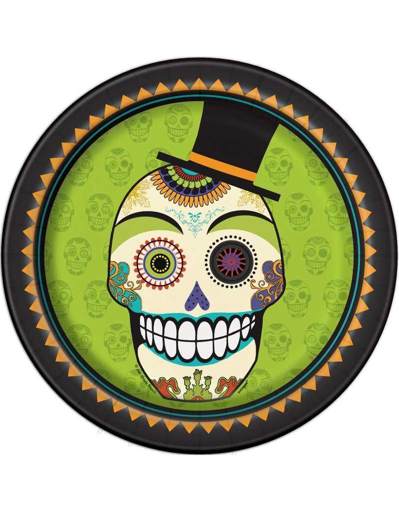 """Day of the Dead 9"""" Plate (8)"""