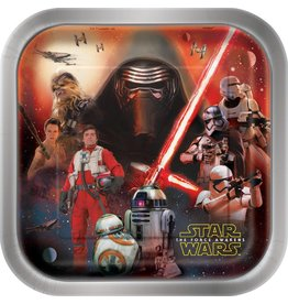 "Star Wars Square 9"" Plates (8)"