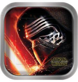 "Star Wars 7"" Plates (8)"