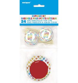Rainbow Birthday Cupcake Kit (24)