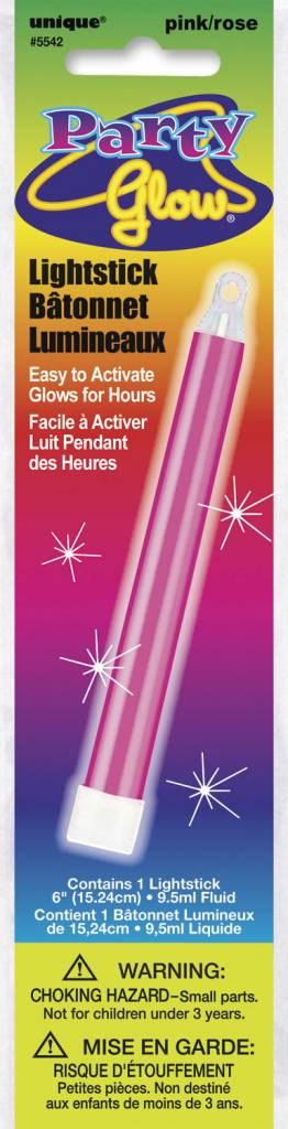 """Pink Glow Lightstick 6"""""""
