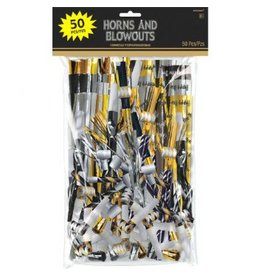 New Year's Horns & Blowouts Mega Value Pack (50)