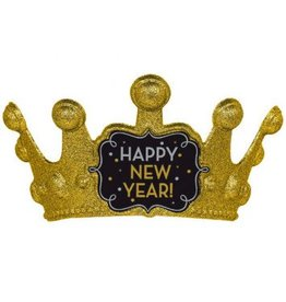 Happy New Year Crown Black, Silver, Gold