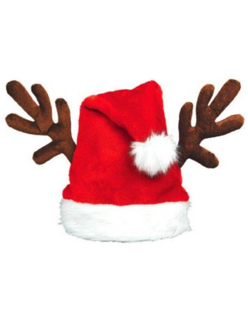 Antlers Santa Hat