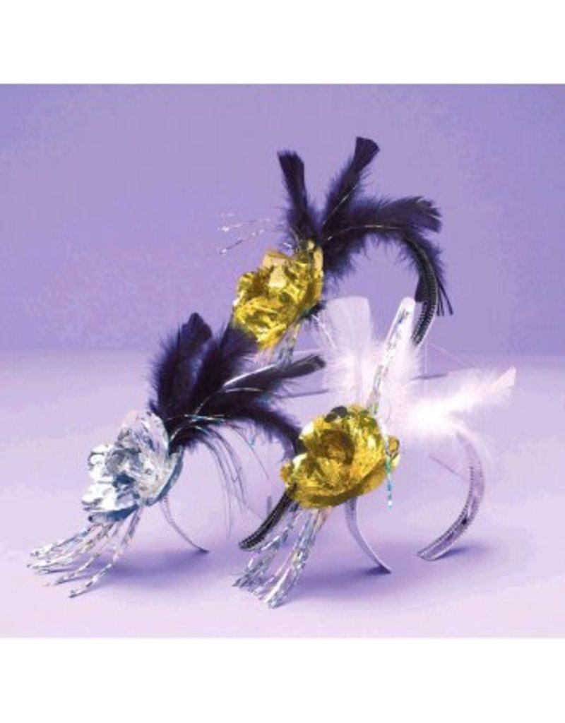 Evening Elegance Rose & Feather Tiara