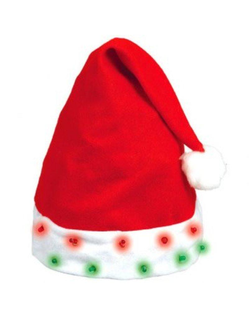 Flashing Light Bulb Santa Hat