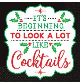 Christmas Cocktail Beverage Napkins (16)