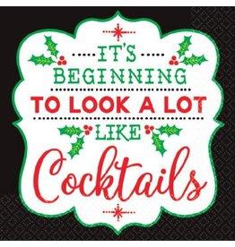 Christmas Cocktail Beverage Napkins (16)