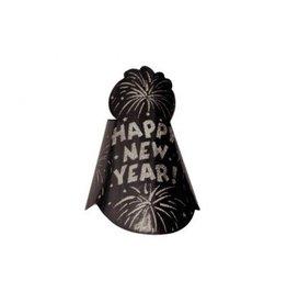 Cone Hat - Black w/Glitter