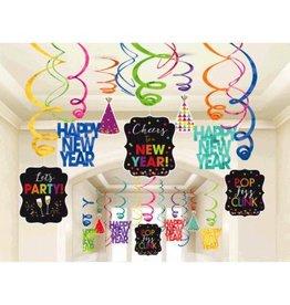 New Year's Mega Value Pack Foil Swirls - Jewel Tone (30)