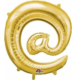 Gold @ Symbol Mylar Balloon