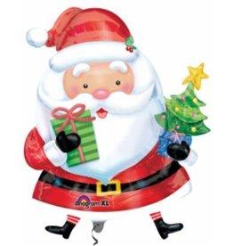 Santa with Tree Mylar Balloon