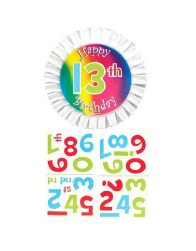 Customized Happy Birthday Button