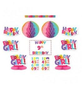 Happy Birthday Girl Add-An-Age Decorating Kit