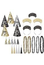 Elegant Evening Kit for 25 Black/Gold/Silver