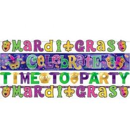 Mardi Gras Letter Banner Combo Pack (4)