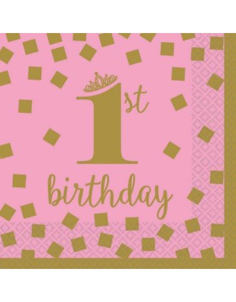 1st Birthday Girl Beverage Napkins (16)