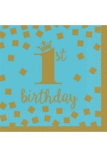 1st Birthday Boy Beverage Napkins (16)