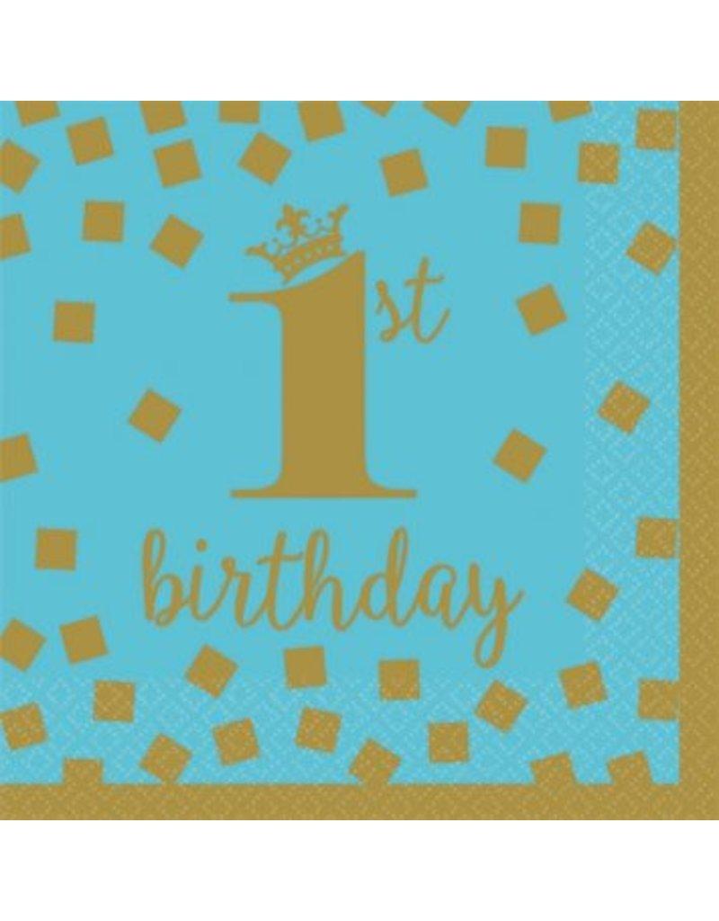 1st Birthday Boy Beverage Napkins (16)