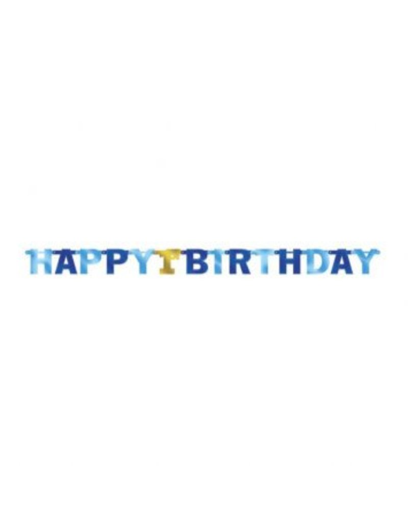 1st Birthday Boy Large Foil Letter Banner