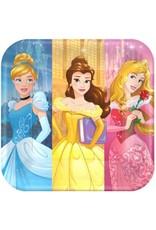 """Disney Princess Dream Big Square Plates 9"""" (8)"""