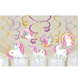 Magical Unicorn Value Pack Foil Swirl Decorations