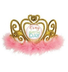 Confetti Fun Light Up Tiara with Marabou
