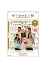 Confetti Fun Selfie Scene Setter® with Photo Props With Glitter