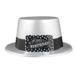 Black & White Birthday Hat