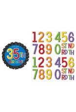 Rainbow Birthday Add-Any-Age Button