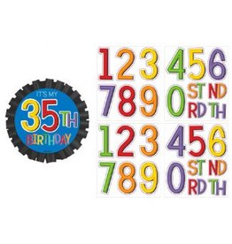Rainbow Birthday Add-Any-Age Button