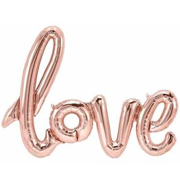 Love Script Air-filled Balloon Banner Rose Gold (Will Not Float)