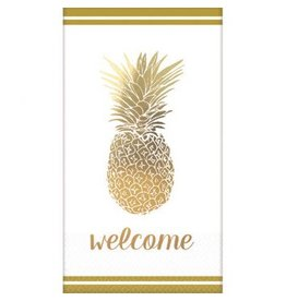 Premium Guest Towels - Golden Pineapple, Hot-Stamped (16)