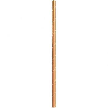 Solid Paper Straws Rose Gold (24)